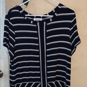 Calvin Klein blue and white stripe dress (long)